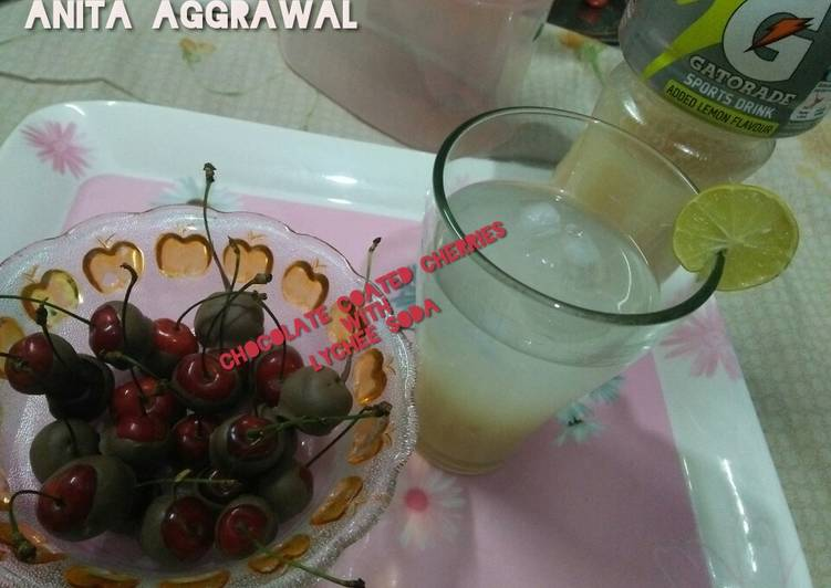 Chocolate cherries and lichi drink