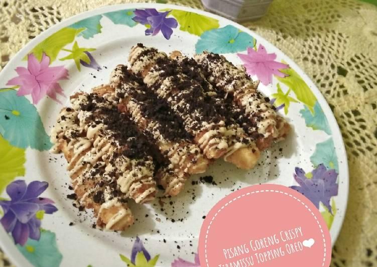 Pisang Goreng Crispy Tiramissu Topping Oreo - cookandrecipe.com
