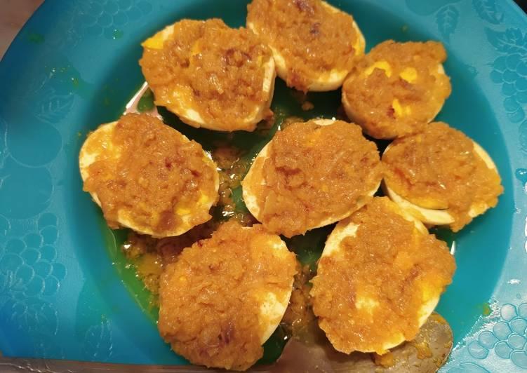 Telur bumbu Acar Kuning