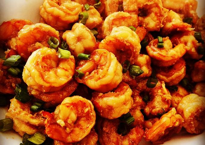 Sticky Honey Garlic Butter Shrimp