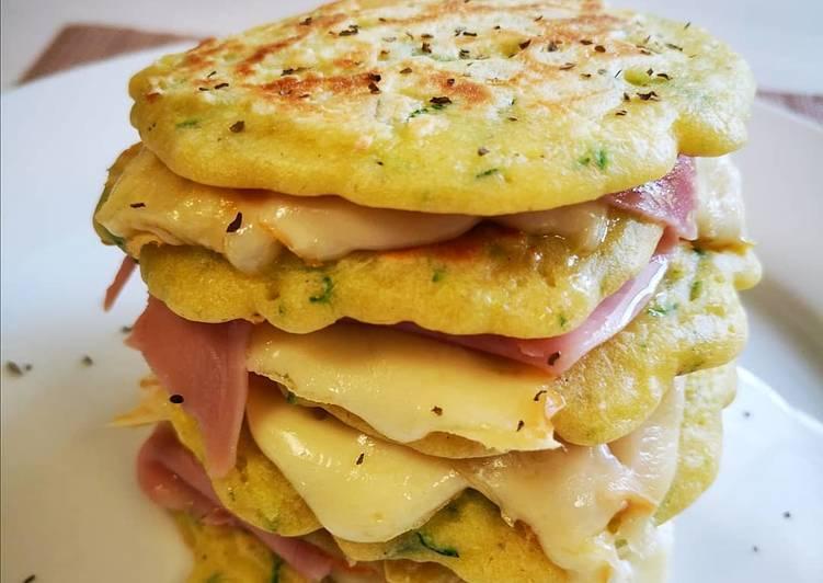 Pancakes salati #glutenfree con zucchine