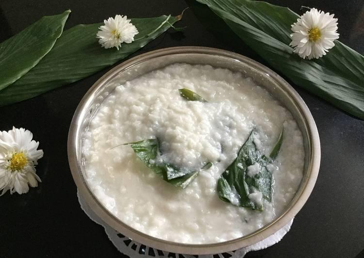 African Dish Cheppi Kheeri (Konkani style coconut rice pudding)
