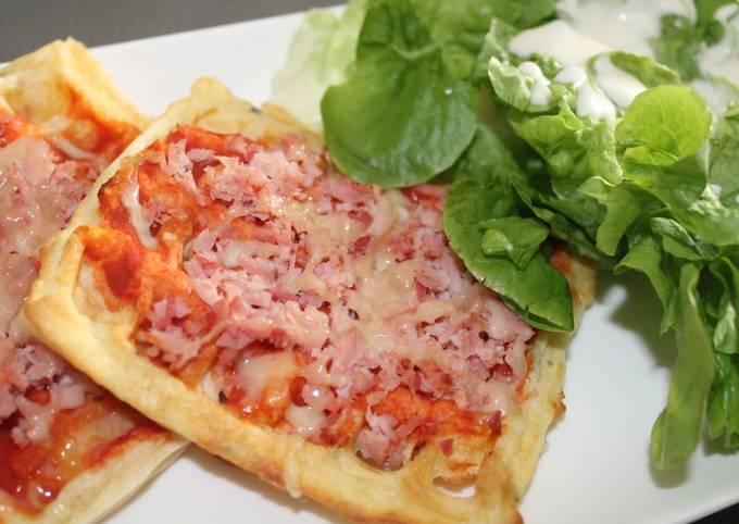 Gaufres salées façon pizza