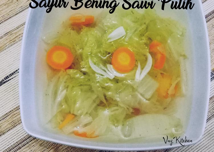 Sayur Bening Sawi Putih