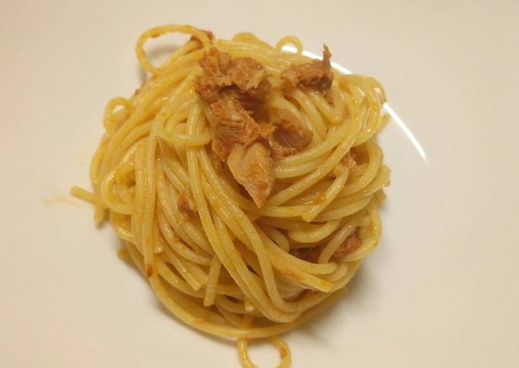 Recipe of Top-Rated Staying at home basic tuna spaghetti