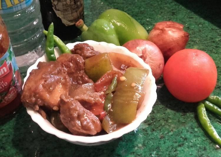 Recipe of Super Quick Homemade Chilli chicken