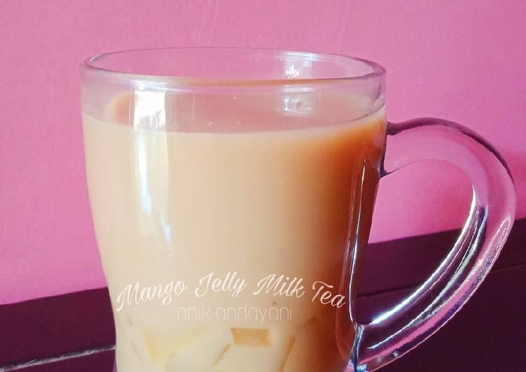 Mango jelly Milk tea