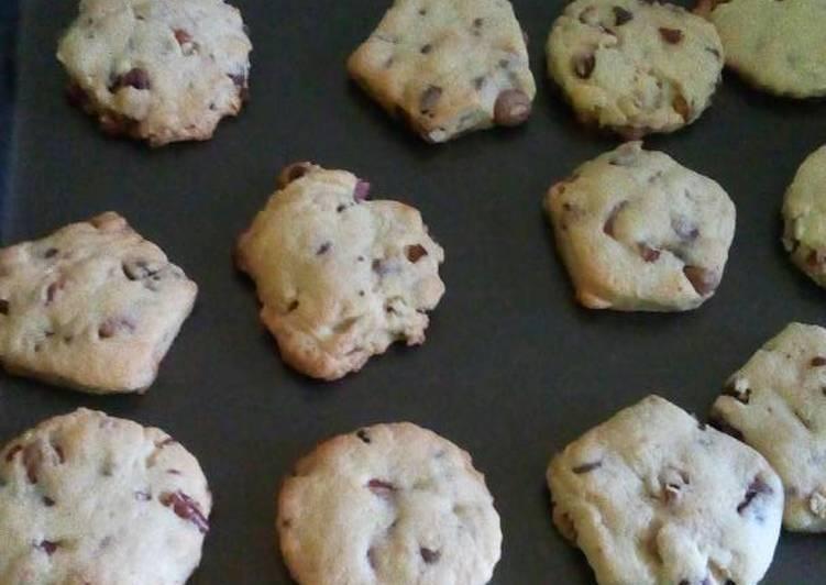 receta galletas chocolate nueces