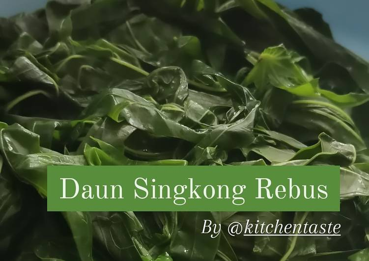 Daun Singkong Rebus ala Kitchentaste