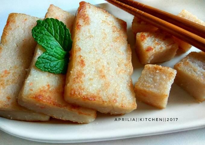 Kue lobak goreng/Lo Bak Gou
