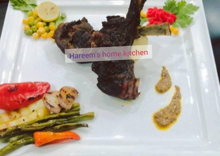 Spicy lamb chops by chef tayyaba