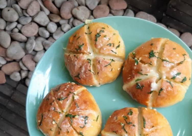Korean Garlic Cheese Bread with Homemade Cream Cheese