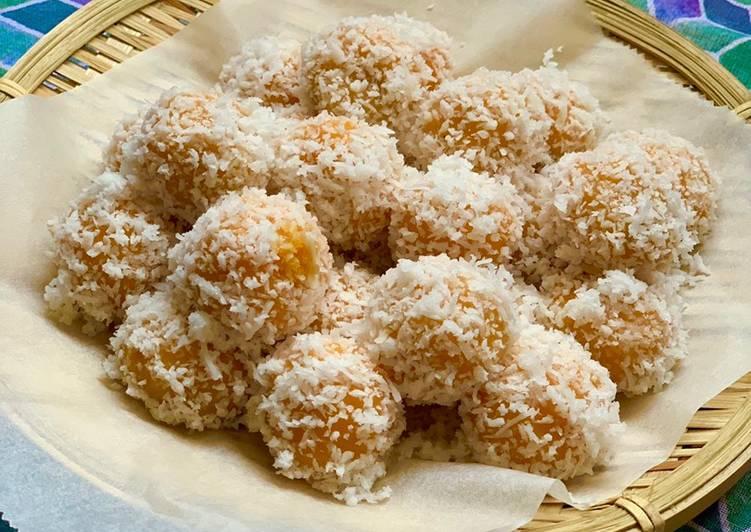 Sweet Potato Klepon (Ondeh Ondeh)