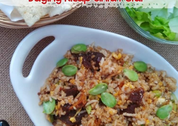 Resepi: Nasi Goreng Daging Kicap Cinta Petai  Enak