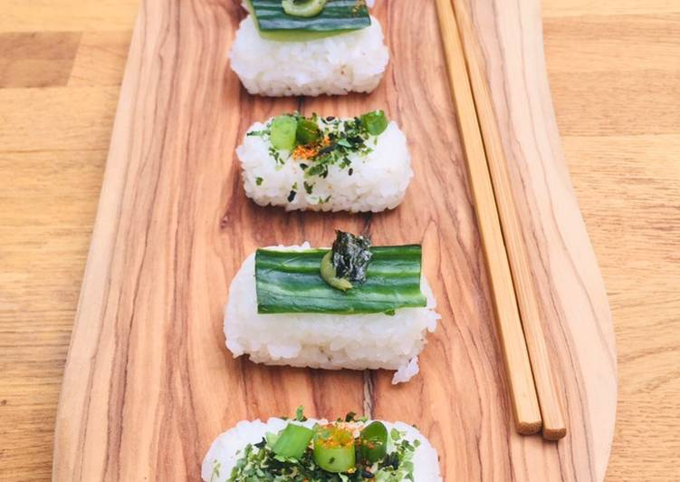 Easiest Way to Make Ultimate Brown rice vegetable sushi with salt and lemon edamame beans🌱🍱