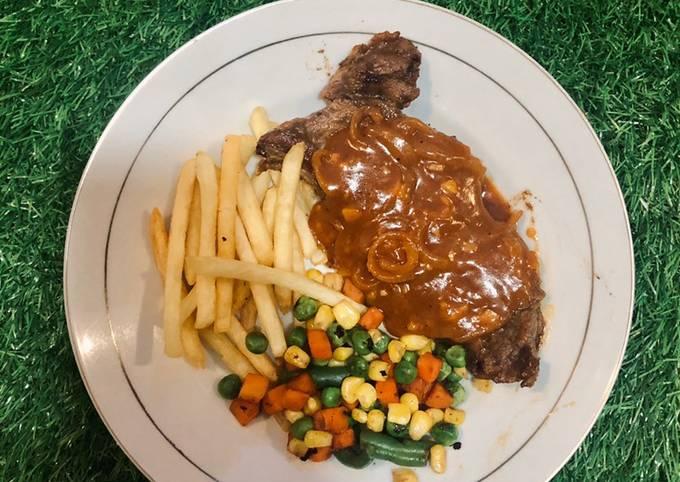 Sirloin Steak with bbq sauce