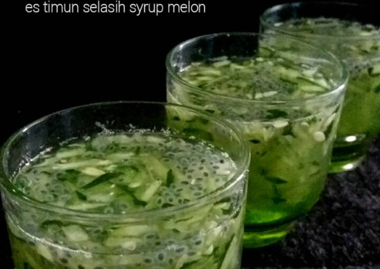 Es Timun Selasih Syrup Melon