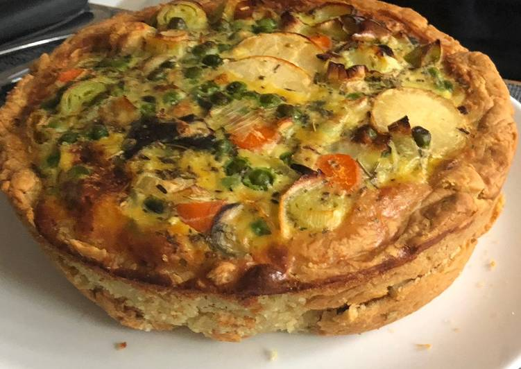 Easiest Way to Prepare Ultimate Vegetable Quiche