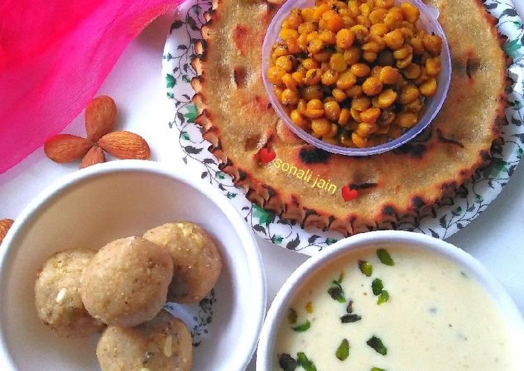 Easiest Way to Prepare Homemade Khuba roth & spicy chickpea lentil & dry fruit kheer millet ladoo