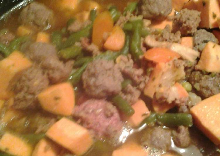 Mini meatball soup