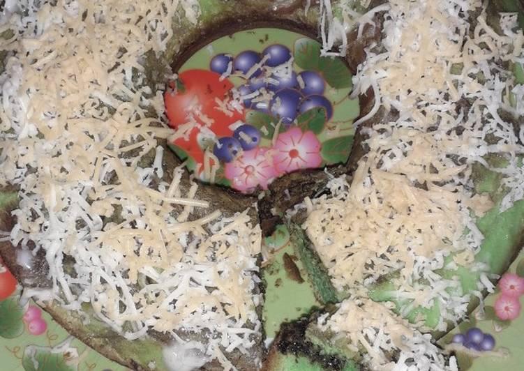 cara menyajikan Bolu pandan keju panggang - Sajian Dapur Bunda