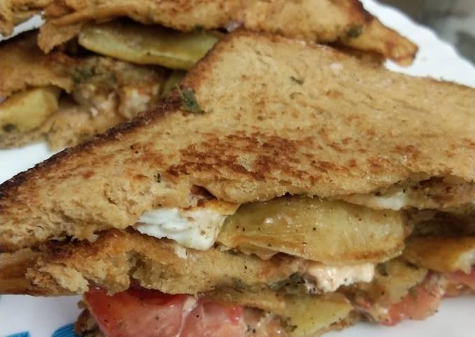 Paneer club sandwich