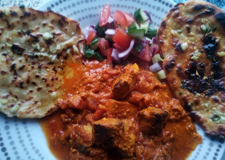 Chicken Tikka Masala With Garlic Flatbreads And Kachumber Recipe By Neil Cookpad