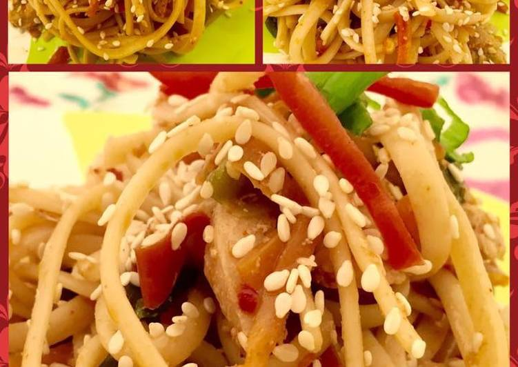 How to Make Favorite Sesame Chicken Chow Mein 😍😄😍