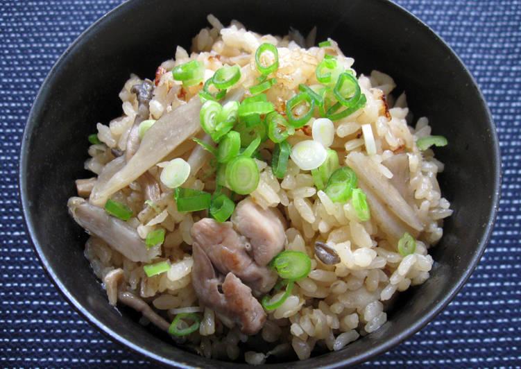 Recipe: Yummy Chicken & Gobō Takikomi Gohan