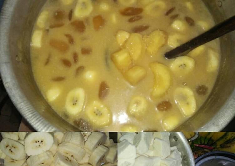 Kolak singkong pisang kepok kolang kaling nikmat ala Bunda Dewi