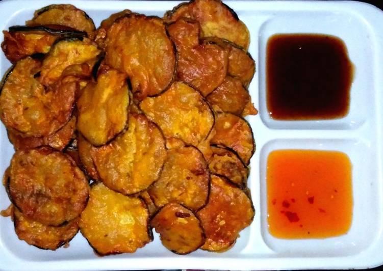 Sweet and sour eggplant crisps #CookpadRamadan