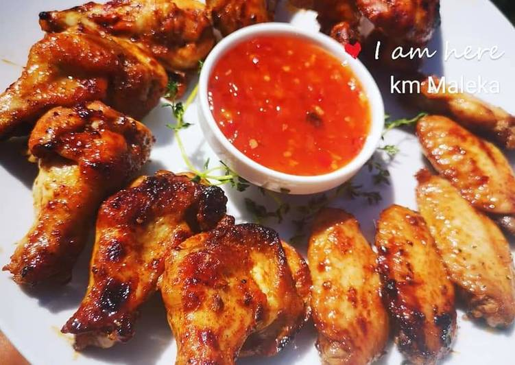 Simple Way to Prepare Quick Peri peri chicken wings