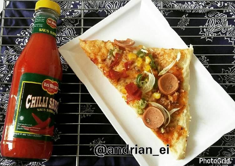 Pizza Sosis Paprika (Tanpa Ulen)