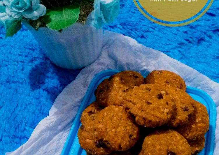 17. Oat Chocochips Cookies with Palm Sugar NoOven Takaran Sendok