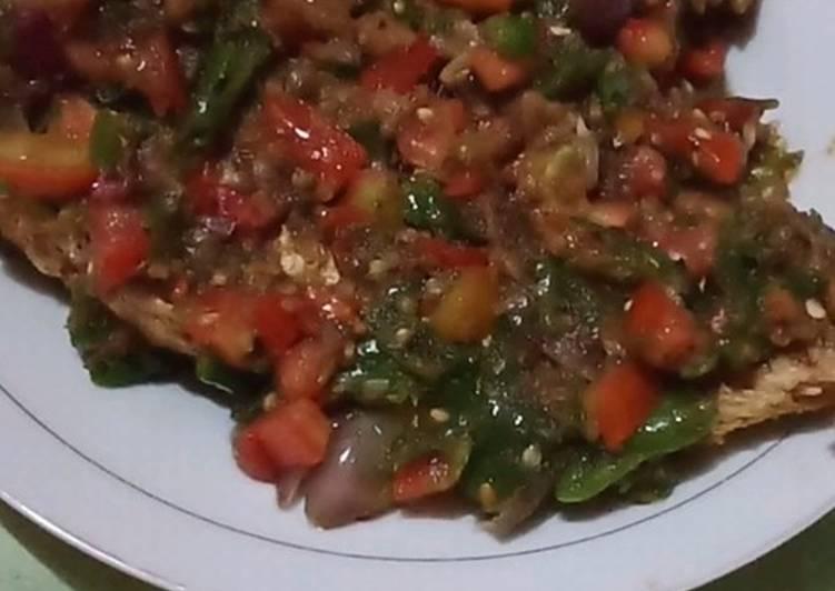 Ikan kakap merah sambal mentah mantulll jasa