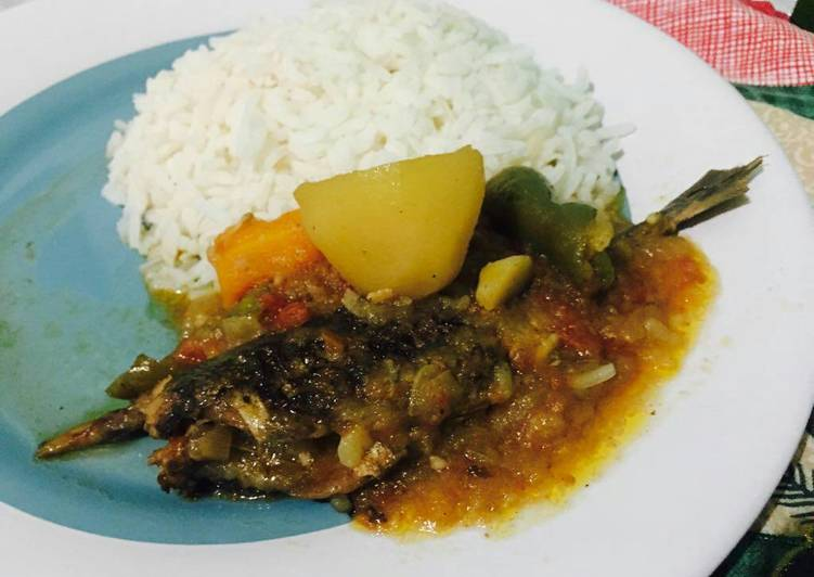 Steps to Prepare Any-night-of-the-week Carapau stew