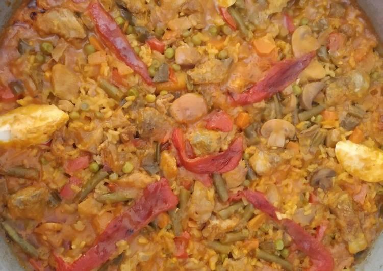 Paella campera al estilo Pitiminí