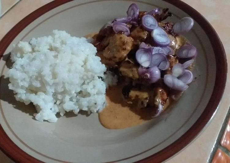 Sate Ayam Teflon Darurat 😁