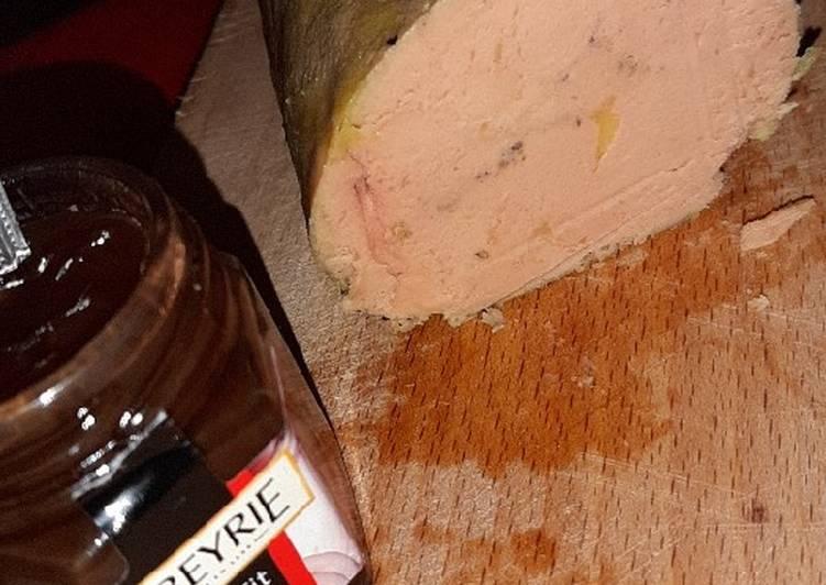Foie gras au porto cuit à la vapeur