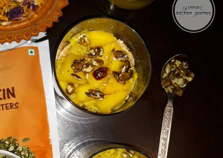 Simple Way to Make Super Quick Homemade Mango parfait