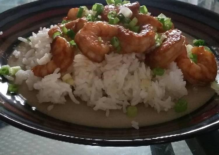 Easy Shrimp Teriyaki with Rice