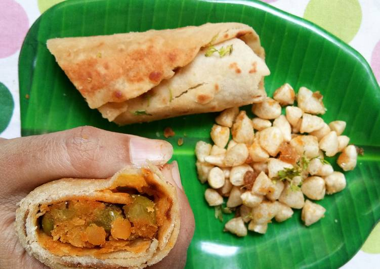 Recipe: Yummy South Indian Healthy Breakfast Wraps with a quick salad