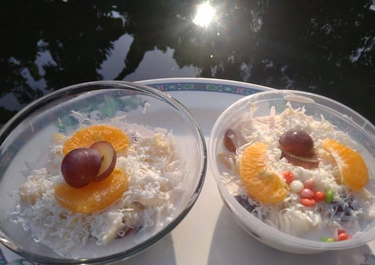 Salad Buah Warna Warni - cookandrecipe.com