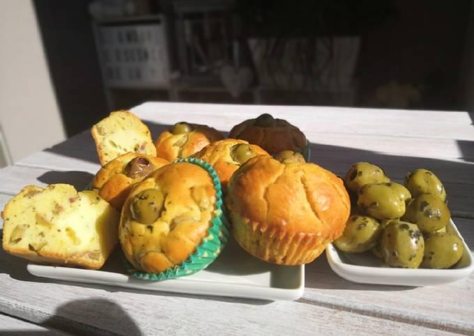 Muffins salés olives et brie