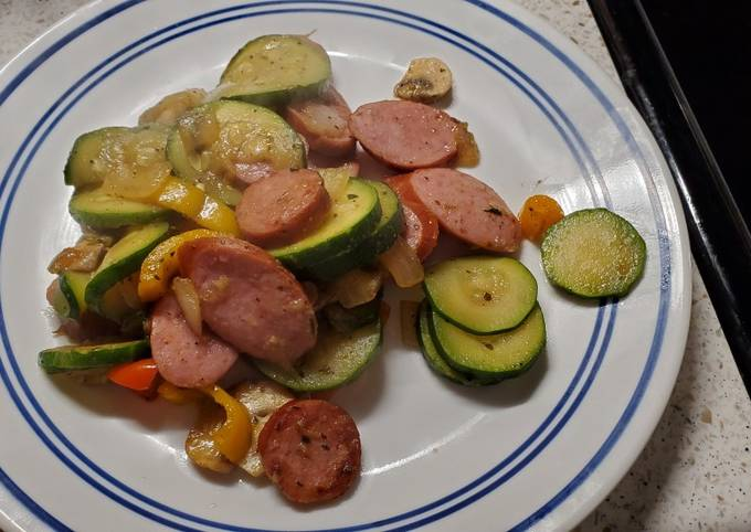 My Skillet Sausage and Veggies