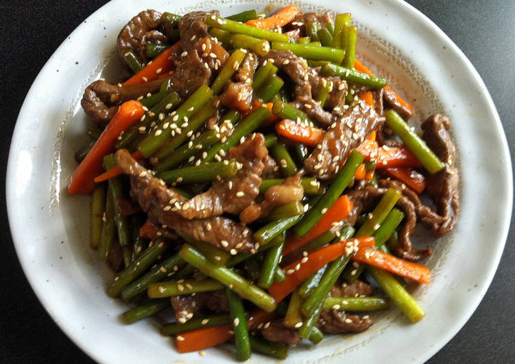 5 Minute Steps to Prepare Any Night Of The Week Beef & Garlic Shoots Stir-fry
