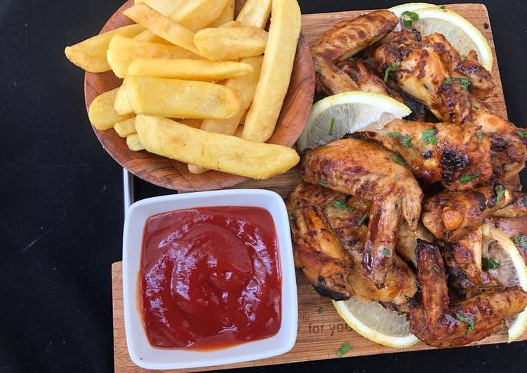 Sweet and tangy bbq chicken wings