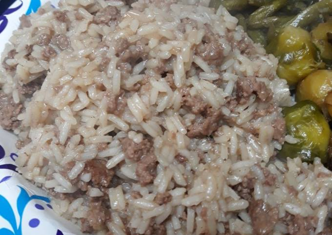 Burger and Rice Simple
