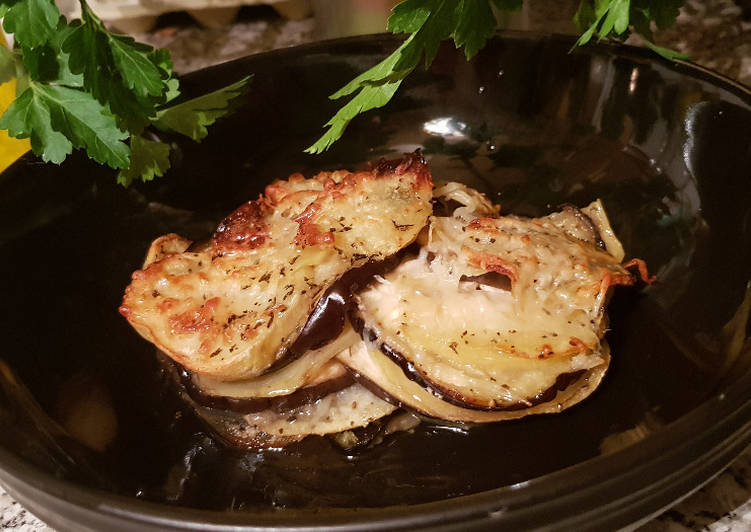 Mil Hojas De Patata Y Berenjena Receta De Montse Casellas Trasteamos En Mi Cocina Cookpad