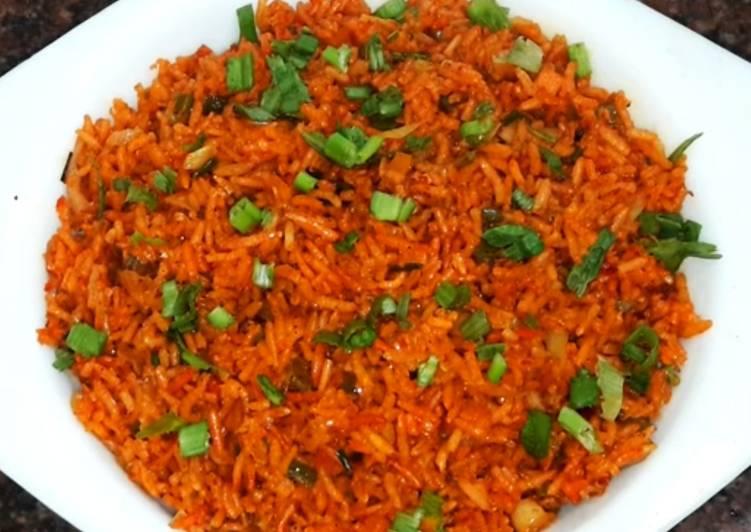 Restaurant Style veg schezwan rice